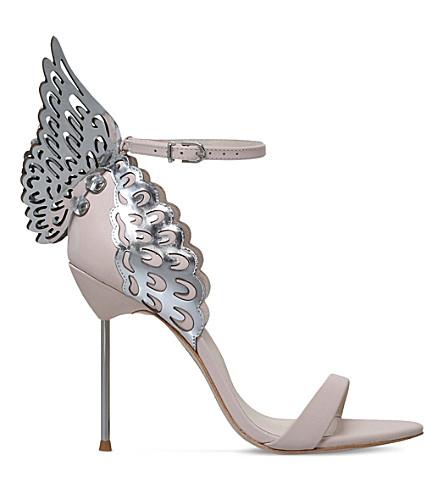 Evangeline Leather Heeled Sandals by Sophia Webster
