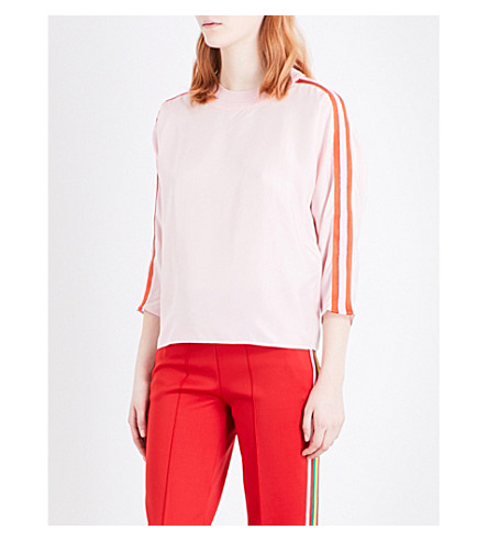 Amazon Cheap Online Shop Online Sandro Silk Striped Top Outlet Store Locations Cheap Low Price 4MOgV