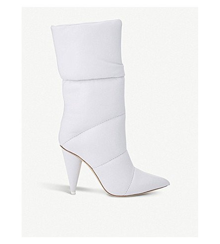 C/O Off White Sara 100 Padded Leather Ankle Boots by Jimmy Choo