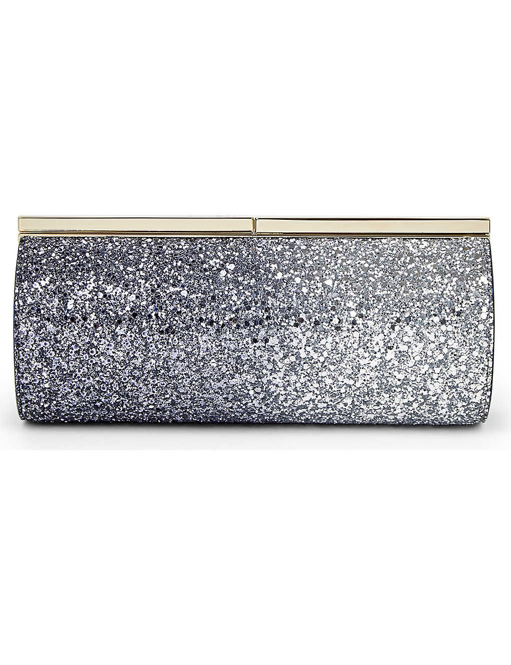 dbda6b78d6b9 JIMMY CHOO - Trinket glitter dégradé tube clutch