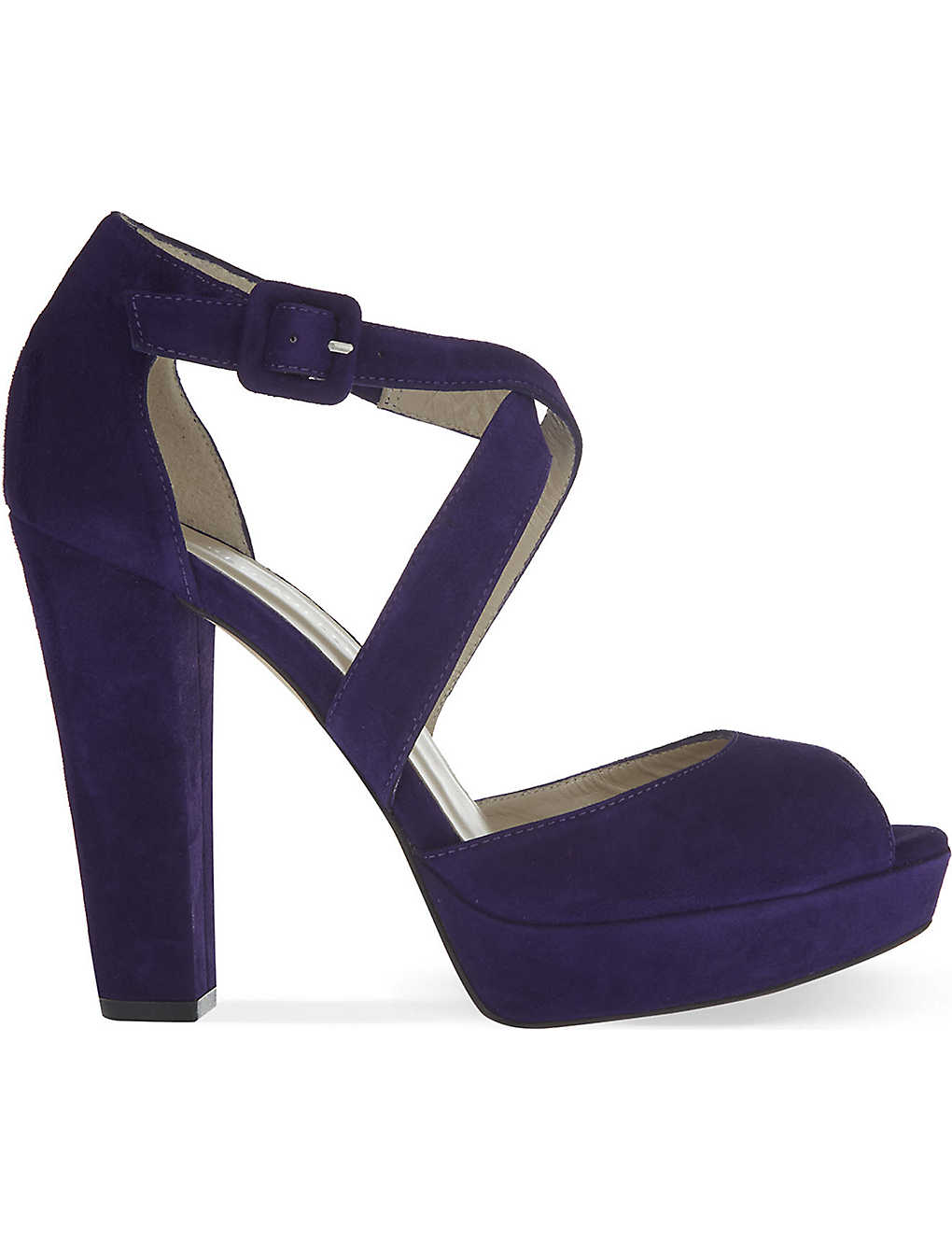 Karen Millen Suede Platform Sandals Pre Order Cheap Price PAC6NGd62