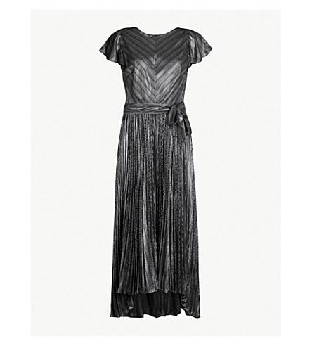 Karen Millen Metallic Woven Maxi Dress Selfridges