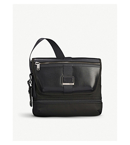 Alpha Bravo Travis Nylon And Leather Cross Body Bag by Tumi