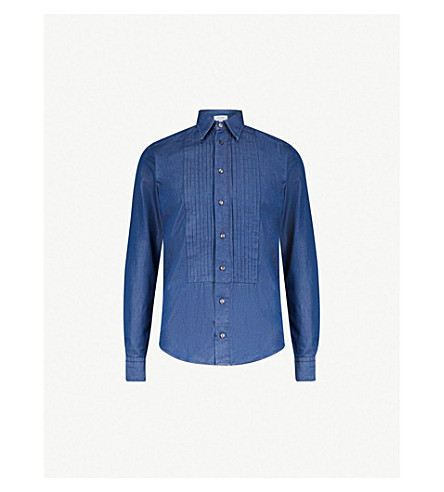 de5bb86559 ... ETON Slim-fit denim shirt (Blue. PreviousNext
