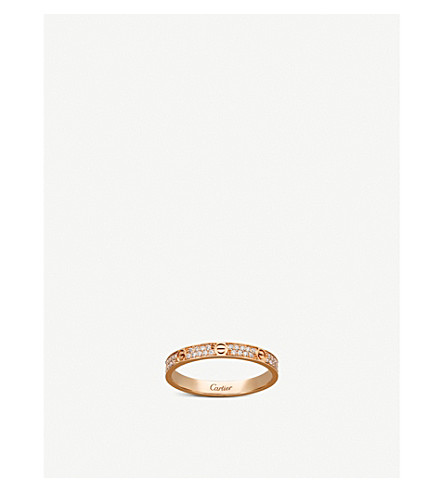 Love 18ct Pink Gold And Diamond Ring by Cartier