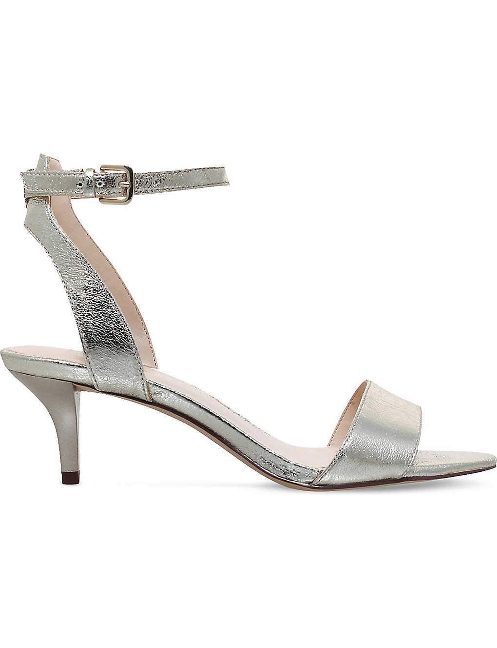 Gold NINE WEST Lesia metallic sandals