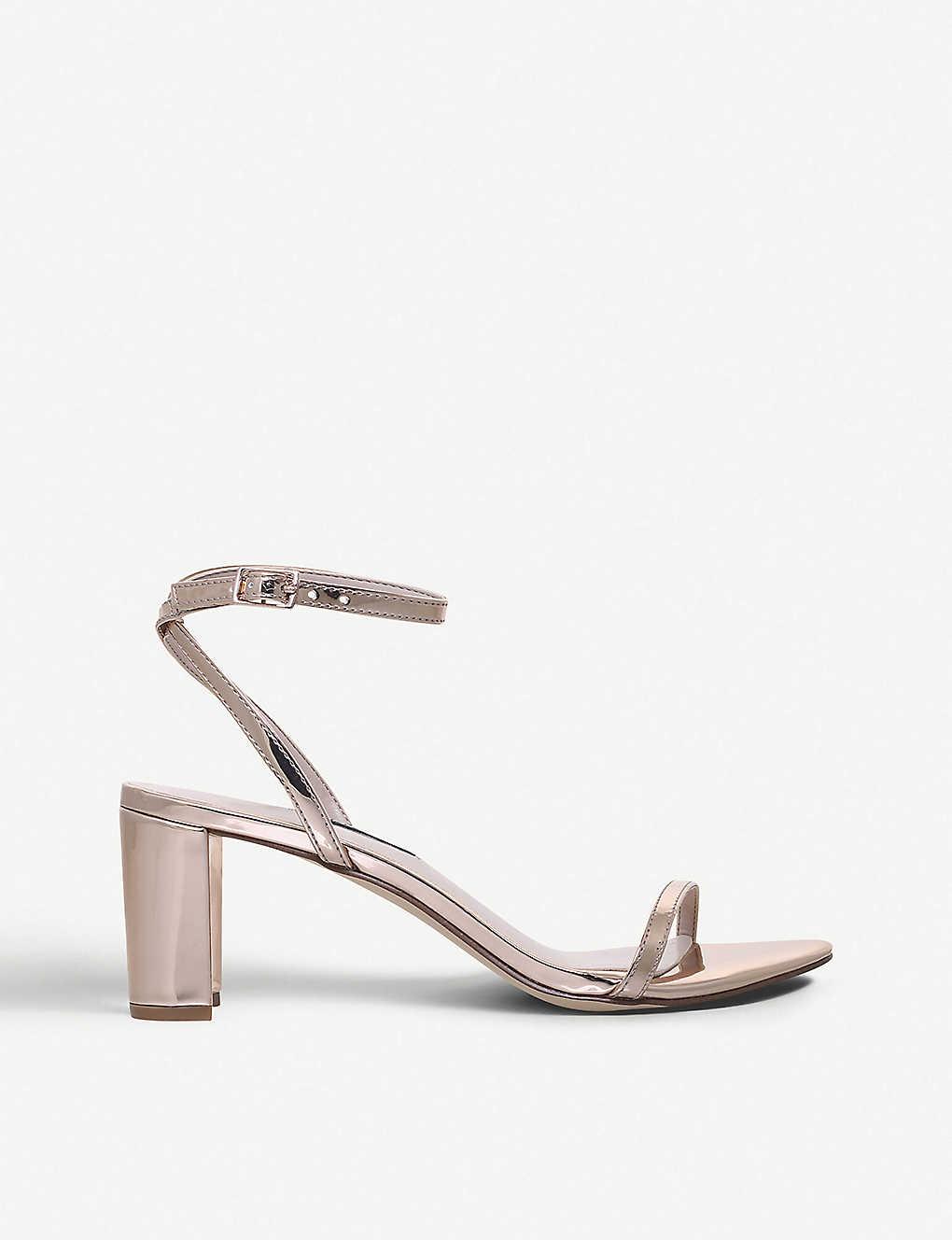 24022d672f1 NINE WEST - Provein metallic two-part heeled sandals