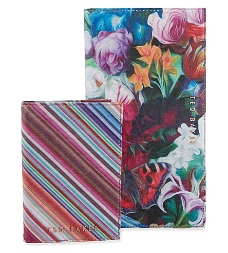 29332930f4e303 TED BAKER - Carlina Floral Swirl leather travel wallet