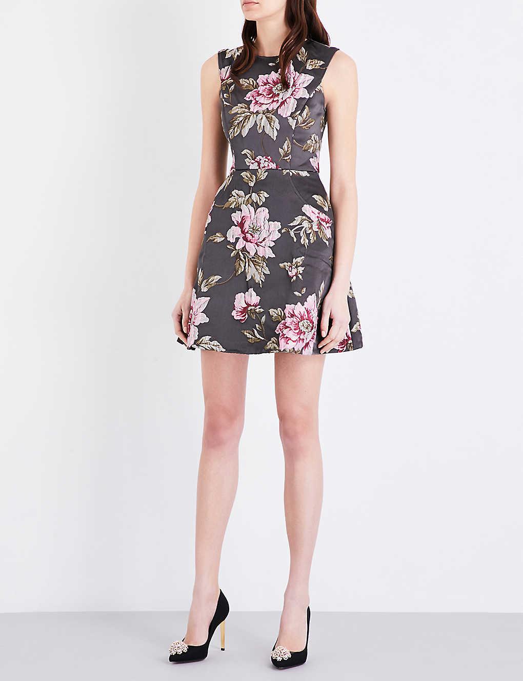 TED BAKER - Kinella floral-jacquard skater dress  4368cb606