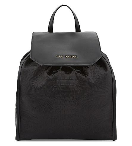 Exotic Embossed Nylon Backpack by Ted Baker