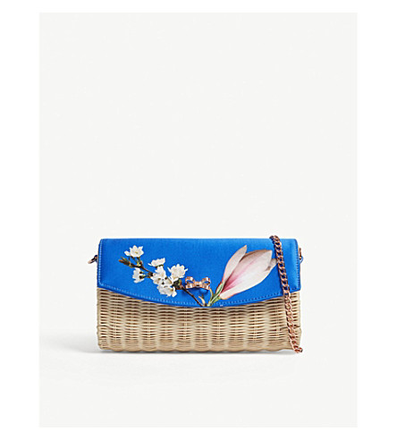 Harmony Straw Clutch by Ted Baker