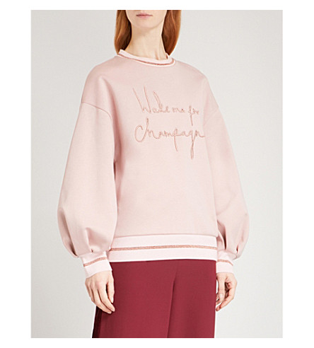 Tinslie Logo Print Cotton Jersey Sweatshirt by Ted Baker