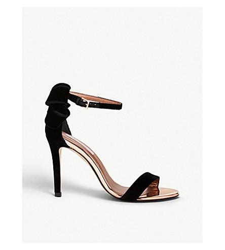 b006cb92d7b ... TED BAKER Saldalv velvet sandals (Black. PreviousNext