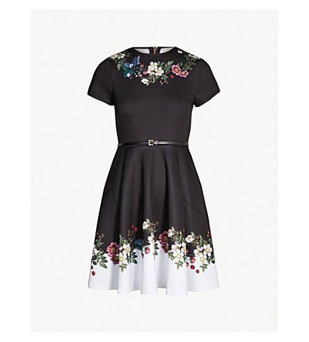 d0cf416d8 ... TED BAKER Chestna oracle-print jersey skater dress (Black. PreviousNext