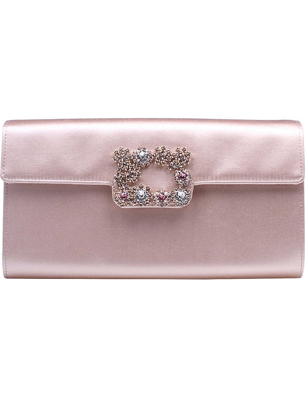 ROGER VIVIER - Envelope Flowers silk-satin clutch bag  ce168fa9eb740
