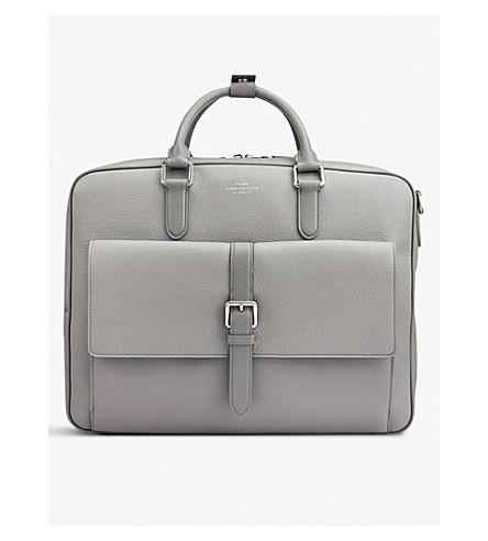 Burlington Large Leather Briefcase by Smythson
