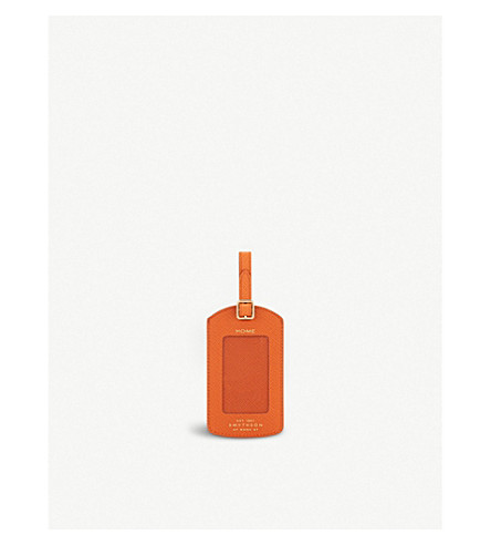 Panama Leather Luggage Tag by Smythson
