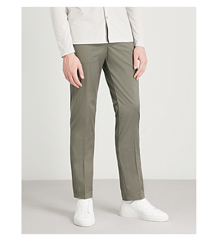Ship Slim Fit Stretch Cotton Chinos by Reiss