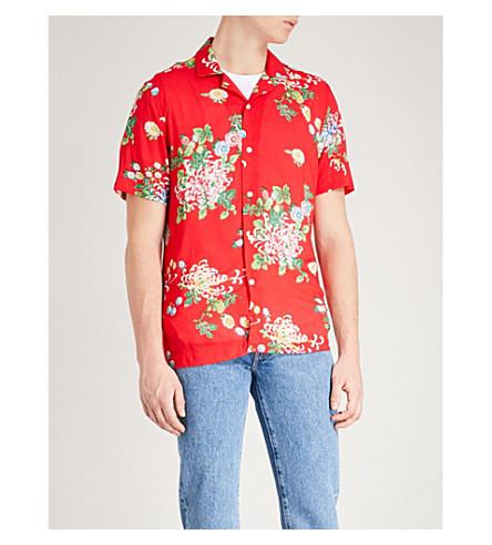 Mimi Floral Print Regular Fit Poplin Shirt by Reiss