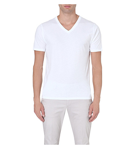 ... REISS Dayton v-neck t-shirt (White. PreviousNext