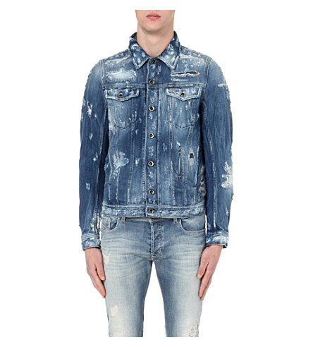 Diesel distressed denim jacket Authentic Cheap Price EWYHc