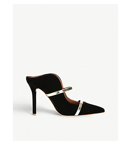 Maureen Buckled Velvet Mules by Malone Souliers