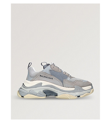 Balenciaga Triple S Mesh and Suede Sneakers quality for sale free shipping discount Manchester cheap geniue stockist clearance authentic IZQFxG5