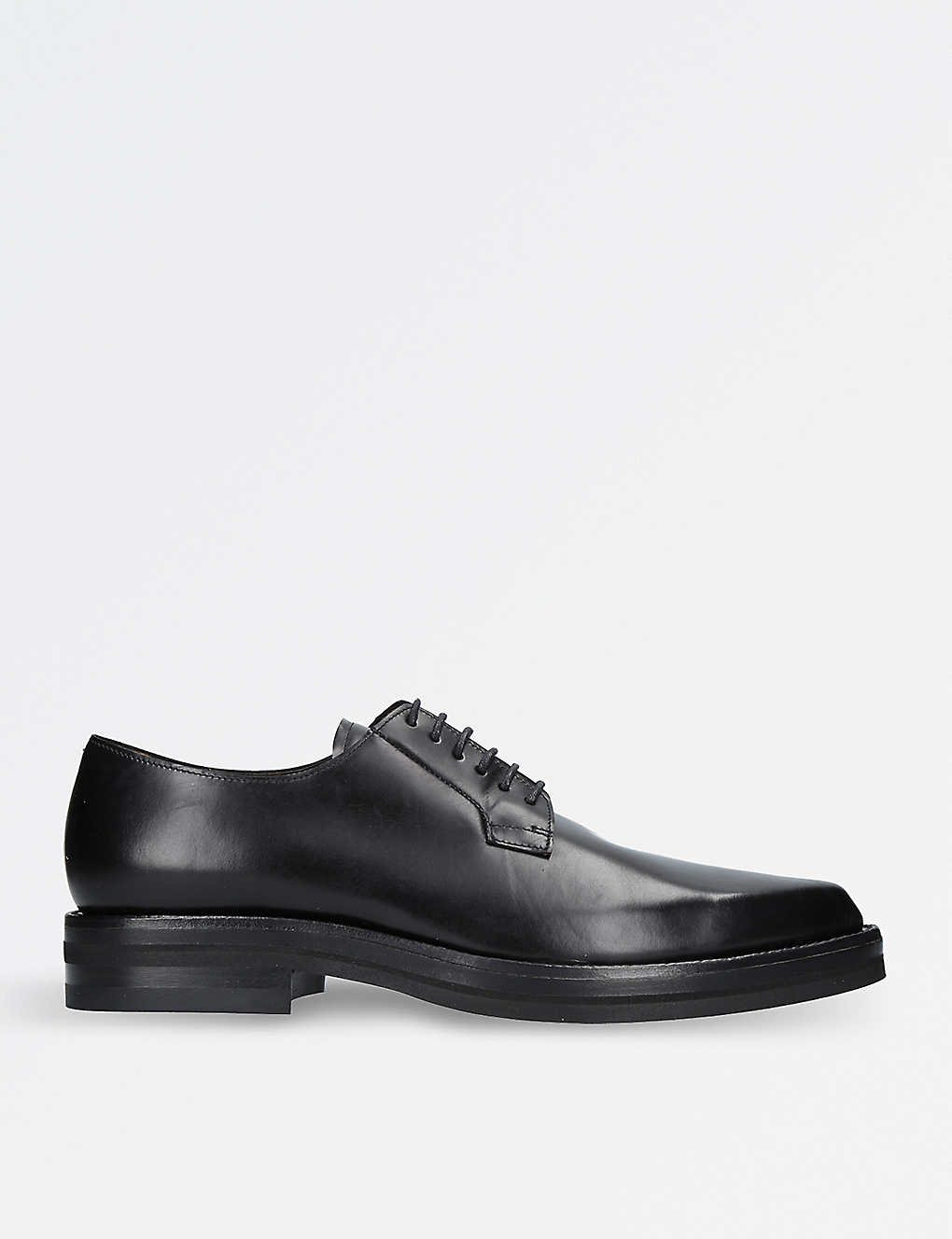 DRIES VAN NOTEN - Pointed-toe leather Derby shoes  f4303a0be