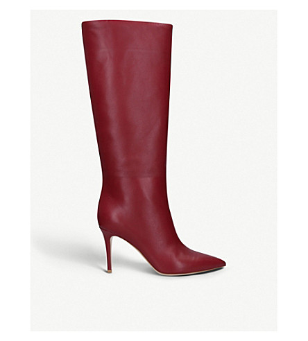 Suzan 85 Leather Boots by Gianvito Rossi