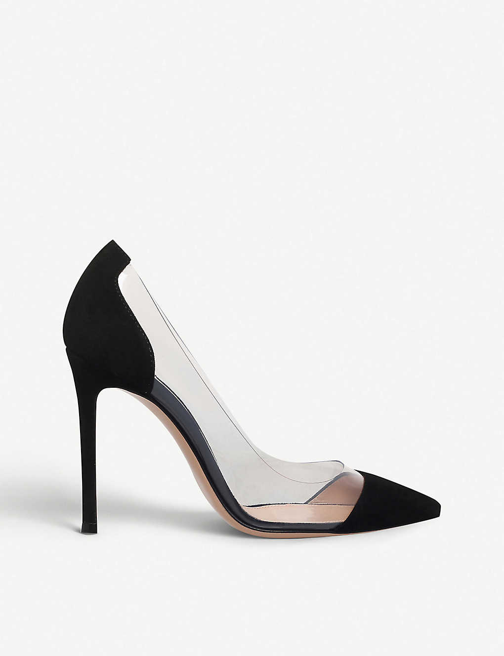 Gianvito Rossi Woman Anise Patent-leather And Pvc Slingback Pumps Baby Size 36 lIzRKoe