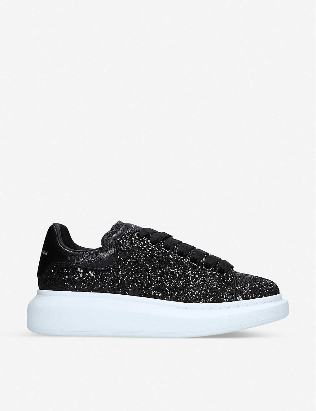 ALEXANDER MCQUEEN - Lace-up glitter trainers  221e388630