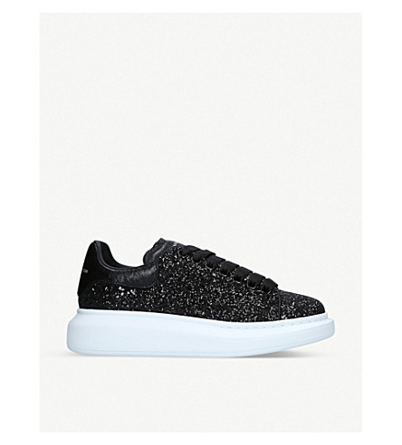 Lace Up Glitter Sneakers by Alexander Mcqueen