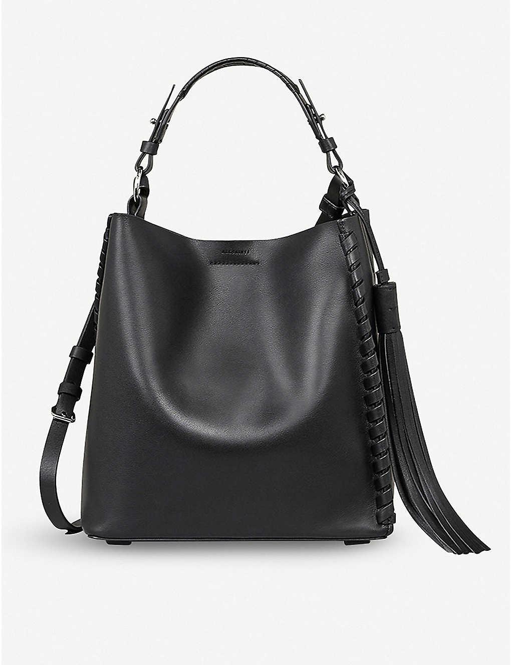 e0eae8b967e ALLSAINTS - Kepi leather shoulder bag   Selfridges.com