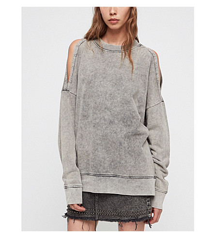 Unai Cotton Jersey Sweatshirt by Allsaints