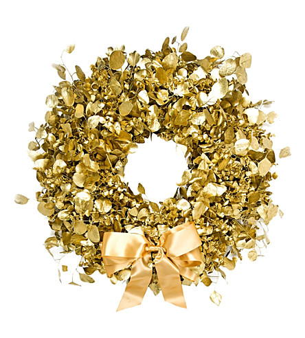 philippa craddock decadent gold christmas wreath
