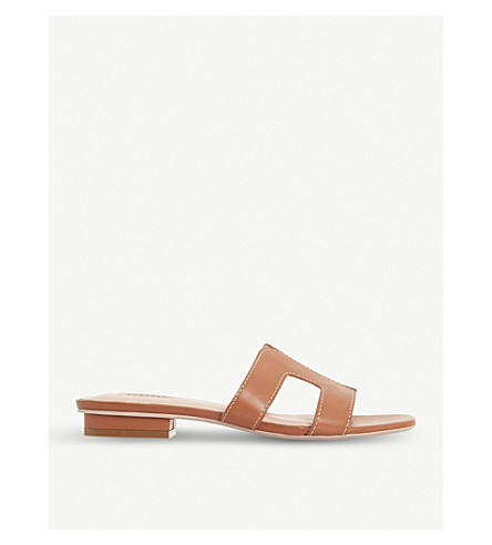 Loupe Leather Sandals by Dune
