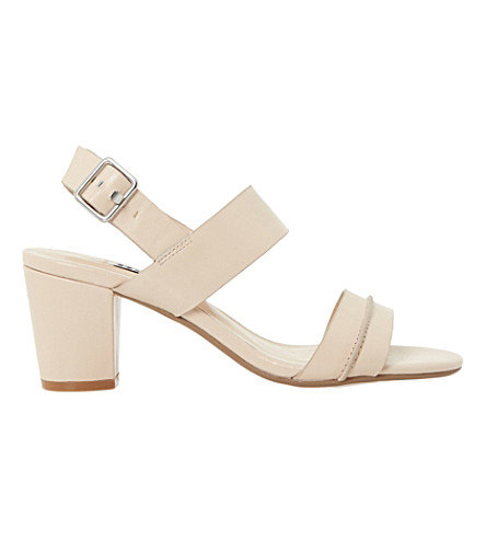 6f60fc1736e ... DUNE Joro block-heeled leather sandals (Nude-leather. PreviousNext