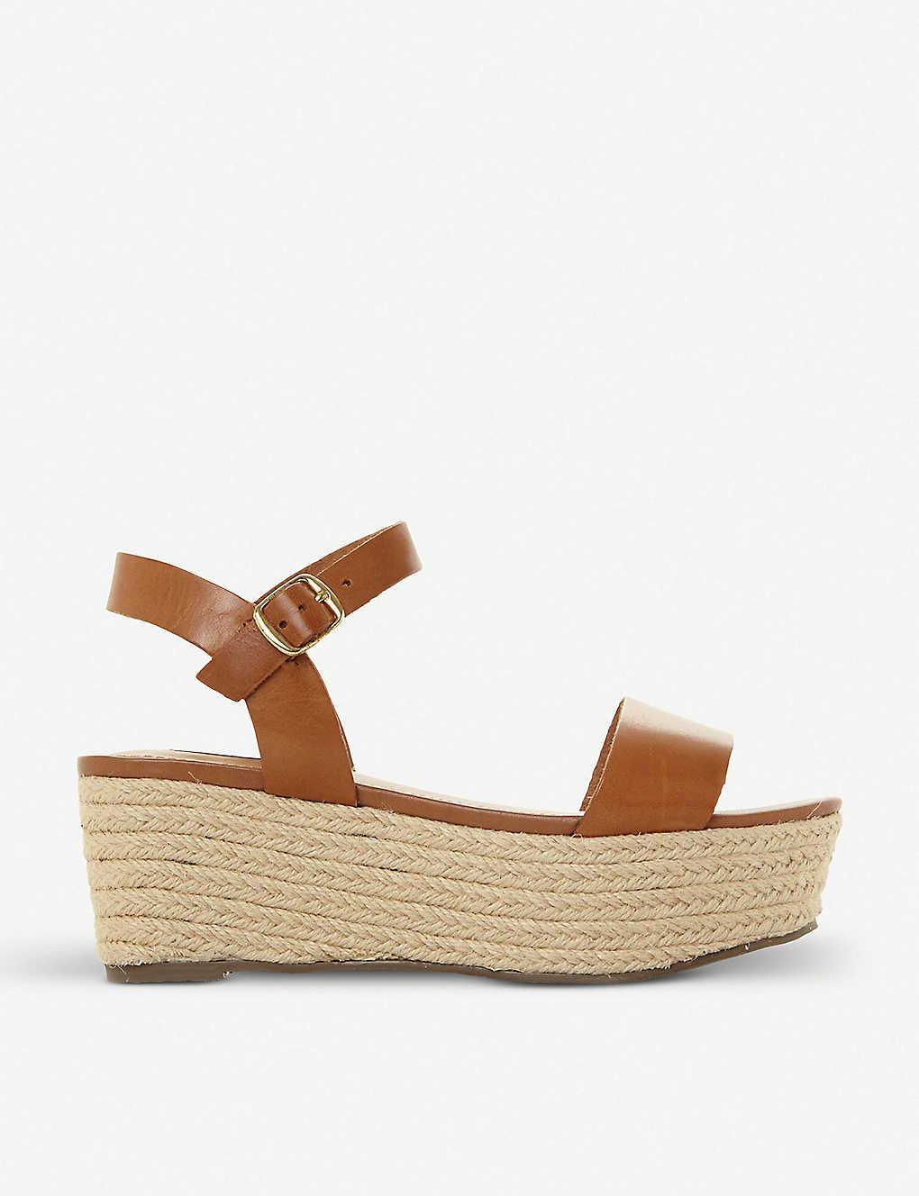 STEVE MADDEN Busy SM leather and jute platform sandals LISFHT