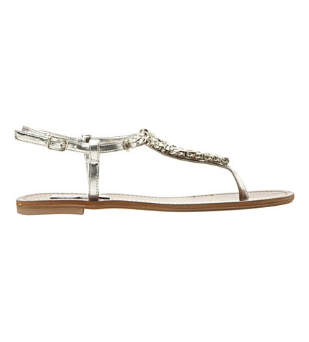 c9d5f188eb7e ... STEVE MADDEN Sidonie jewelled t-bar sandals (Silver-metallic.  PreviousNext