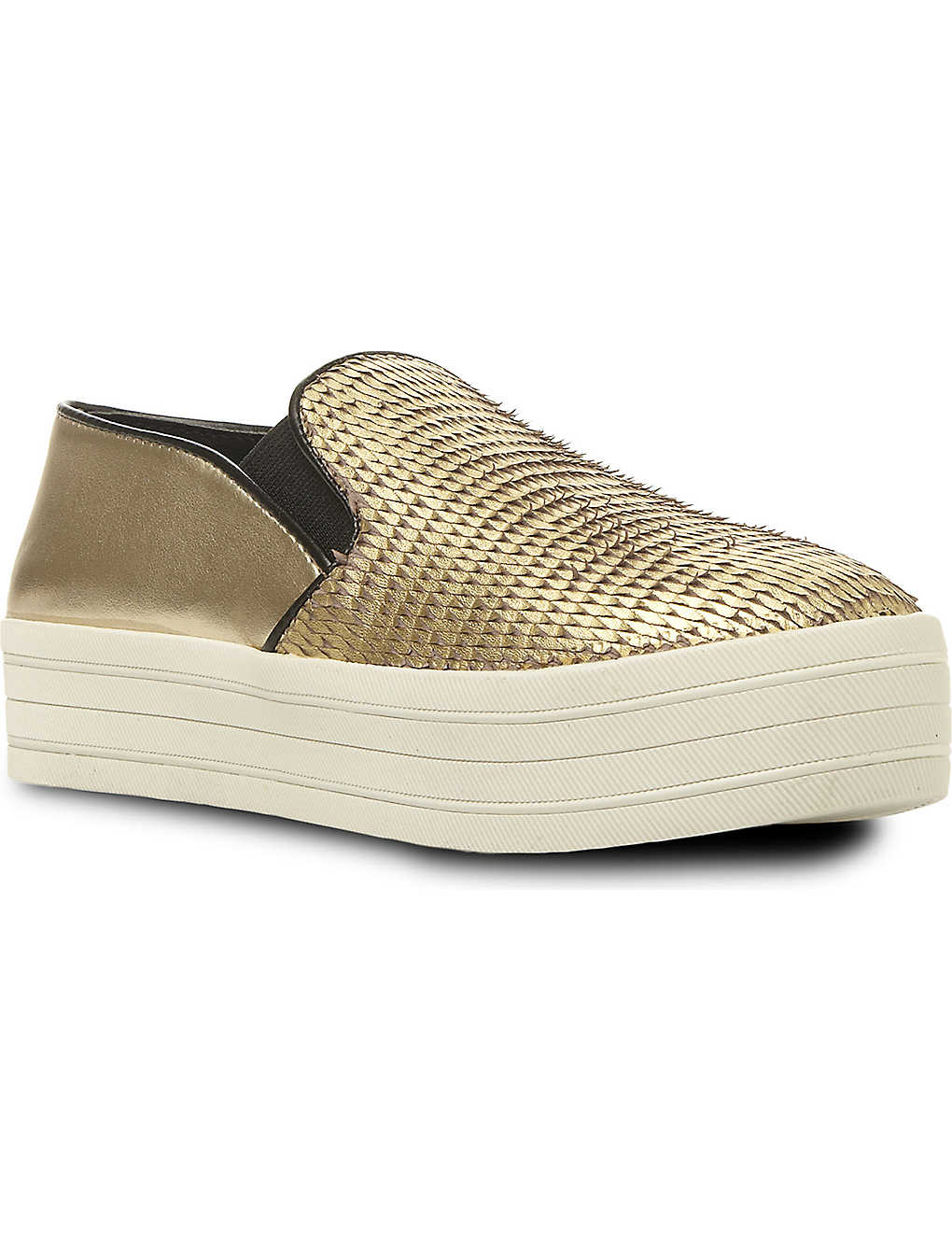 STEVE MADDEN Bubah creeper trainers (Gold-leather