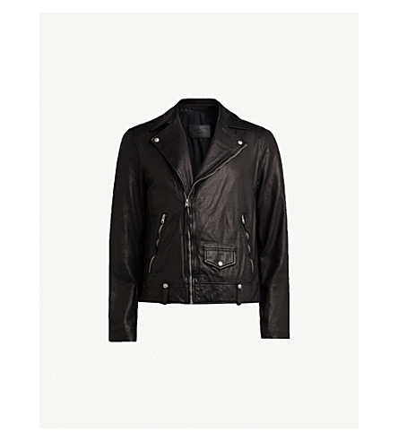 Jace Leather Biker Jacket by Allsaints