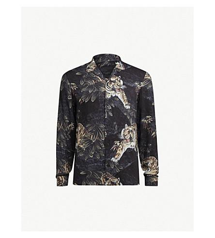 Chokai Slim Fit Printed Woven Shirt by Allsaints