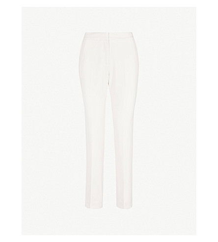 Mea Straight Leg Woven Trousers by Reiss