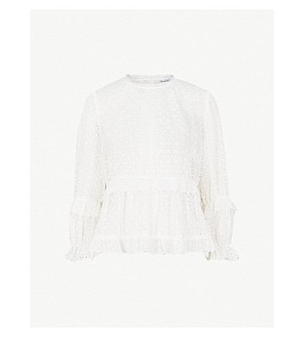 Madie Broderie Anglaise Top by Reiss