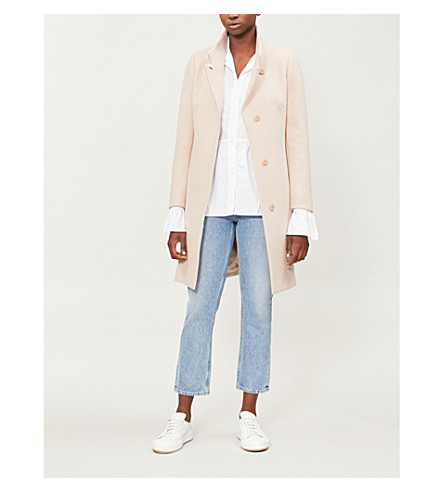 Mabel Single Breasted Wool Blend Coat by Reiss