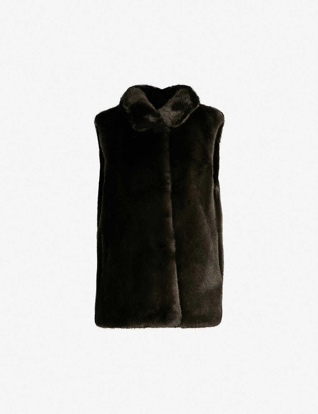 REISS - Fay faux-fur gilet  e2906d67c192a
