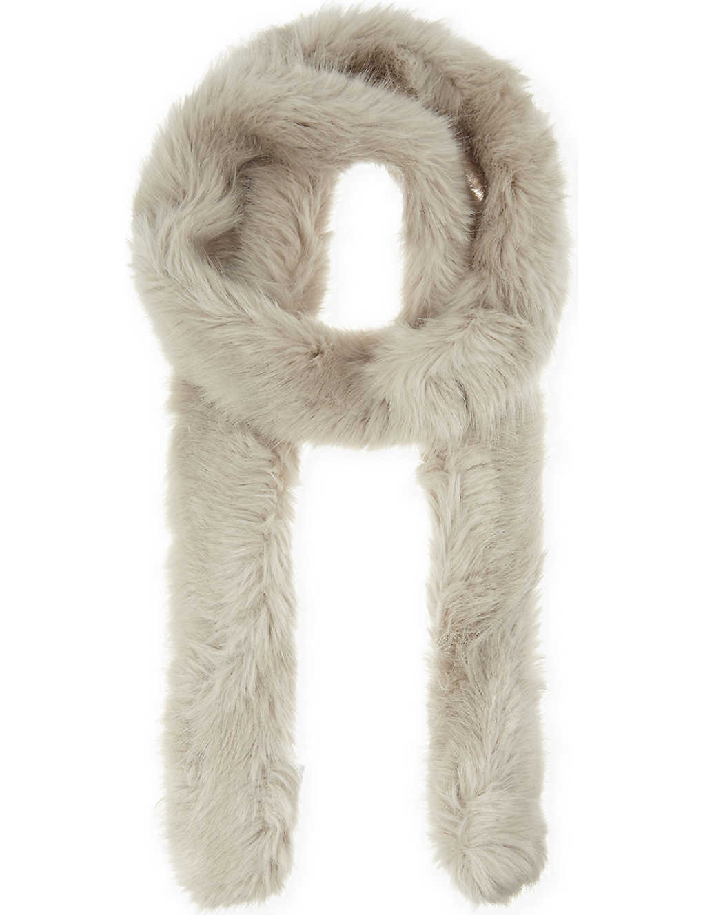 Maggie - Faux Fur Scarf in Oatmeal, Womens Reiss