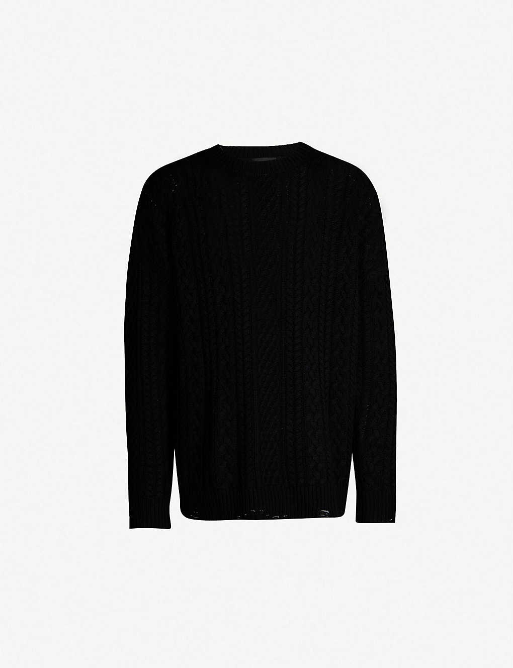 4cbcd1876f THE KOOPLES - Cable knit wool and cashmere-blend jumper