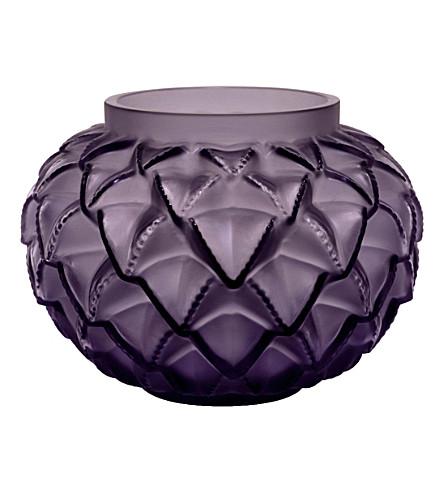 Lalique Languedoc Crystal Vase 12cm Selfridges