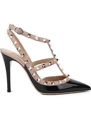 VALENTINO Rockstud 100 patent-leather heeled courts